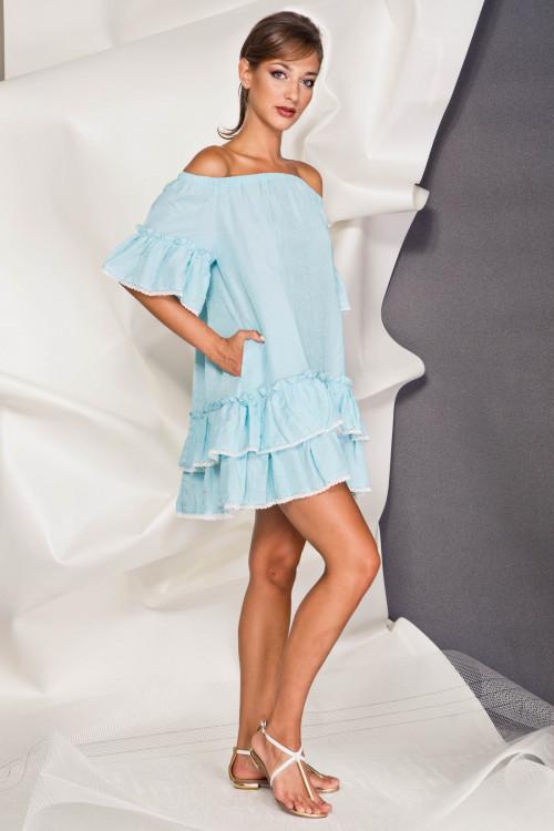Платье 3378  голубой