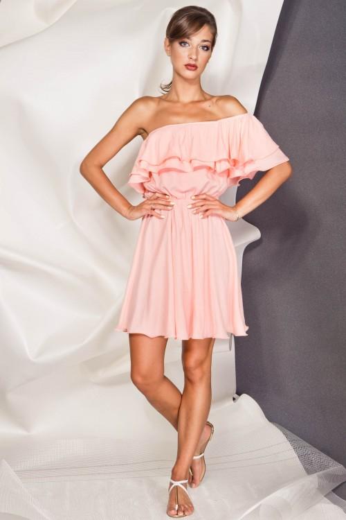 Платье 3376 персик