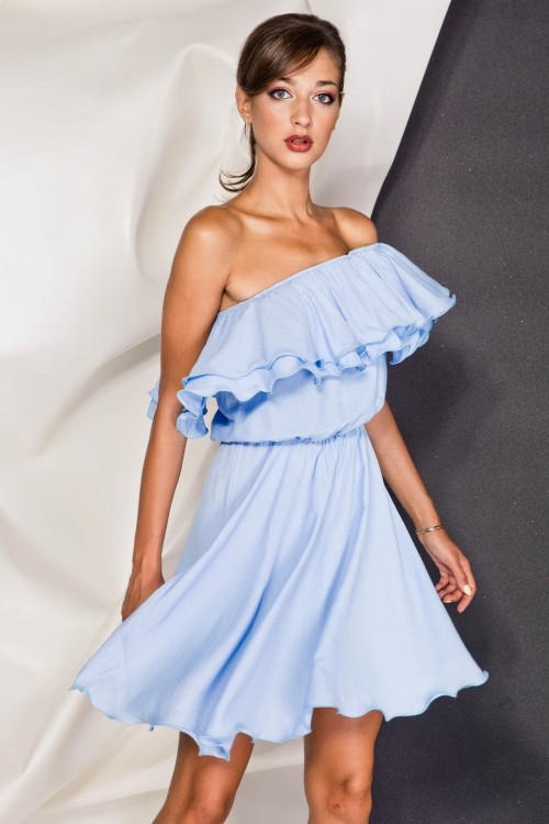 Платье 3376  голубой