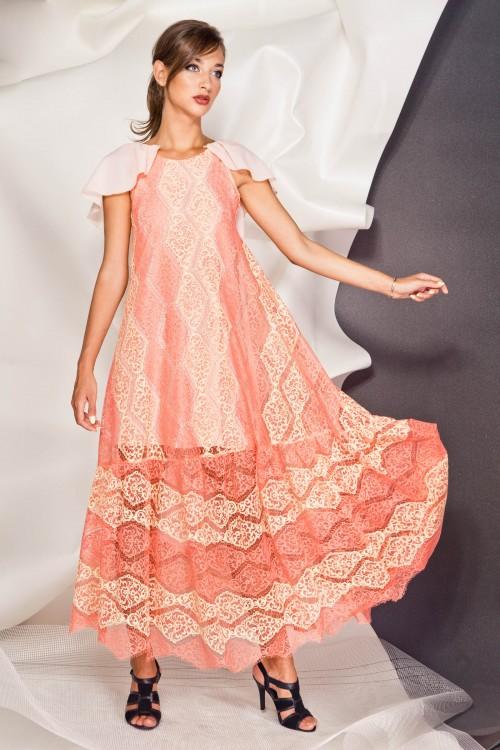 Платье 3381 персик