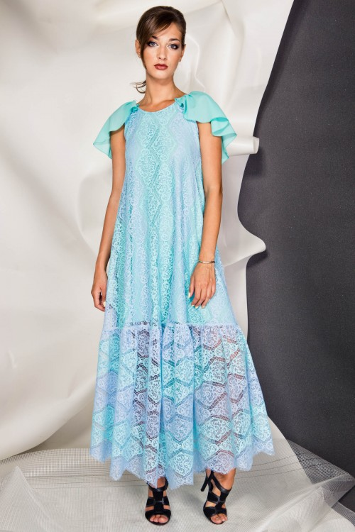Платье 3381 бирюза