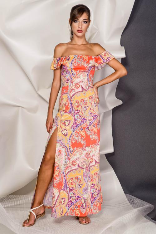 Платье 3374 оранжевый