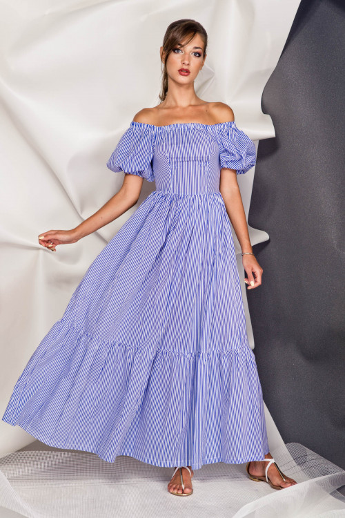 Платье 3375 синий