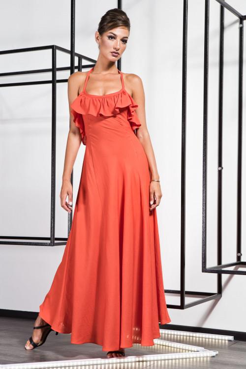 Платье 3369 коралл