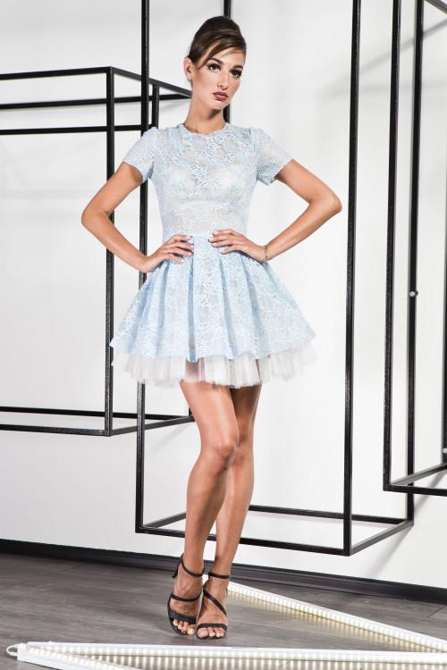 Платье 3367 голубой