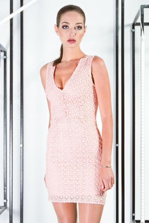 Платье 3357 персик