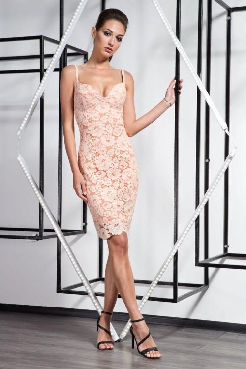 Платье 3363 персик