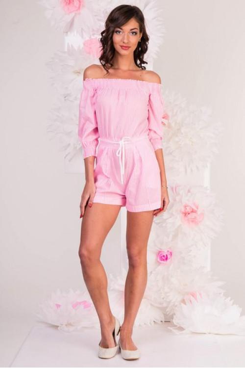 Комбинезон 7033  розовый