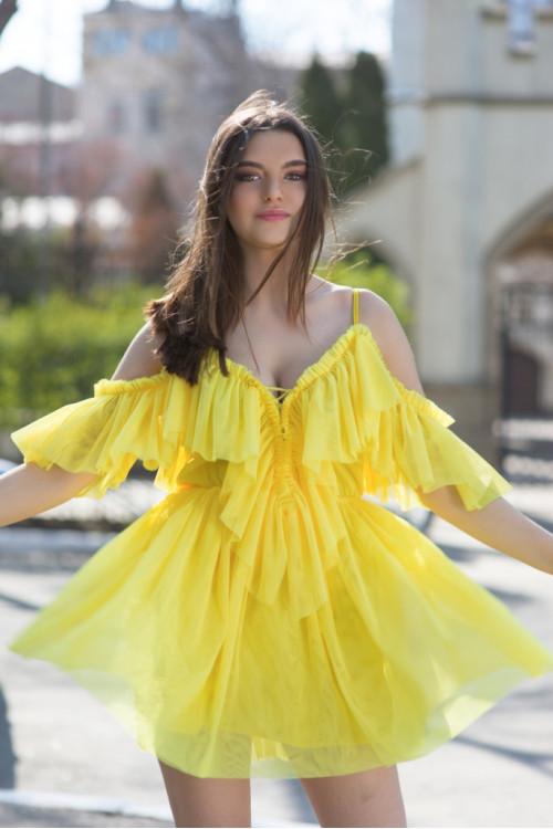 Платье 3416 желтый