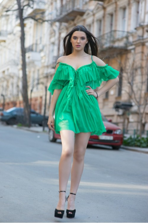 Платье 3416 зеленый
