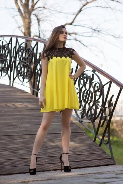 Платье 3415 желтый