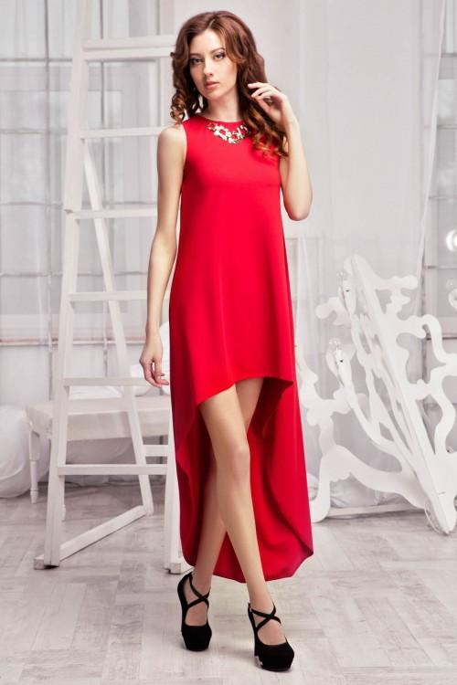 Платье 60-01 красный
