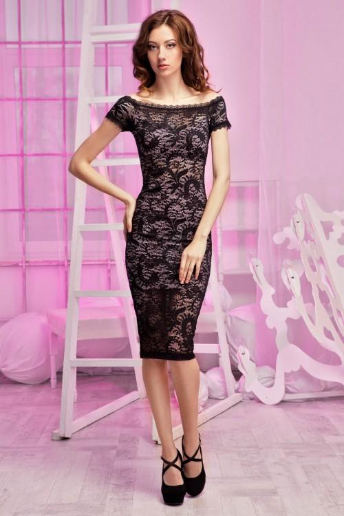 Платье 94-01 гипюр