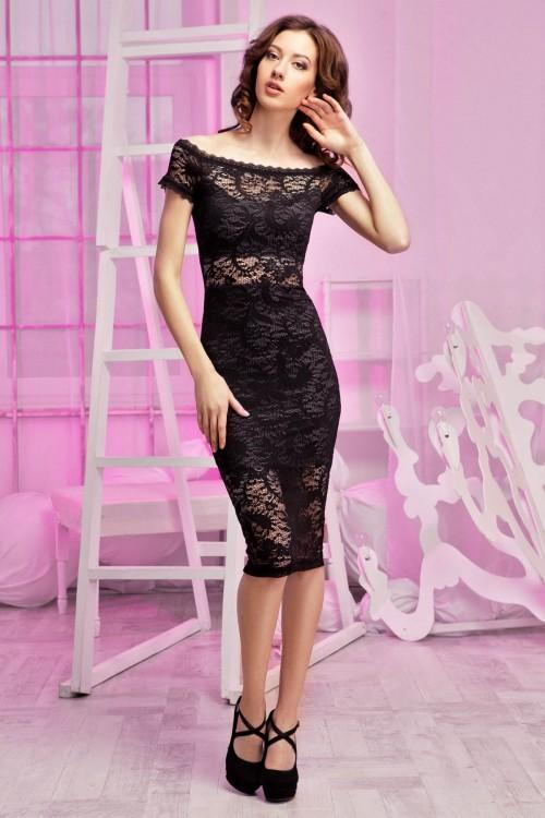Платье 94-01гипюр