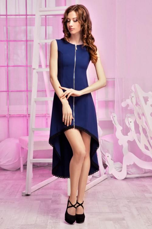 Платье 86-01 синий