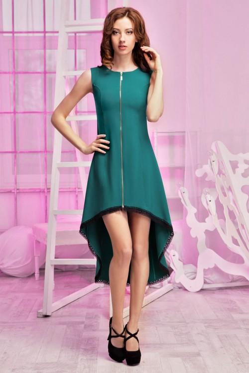 Платье 86-01 зеленый
