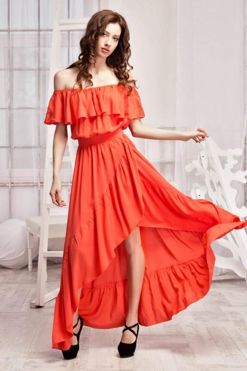 Платье 91-01 коралл