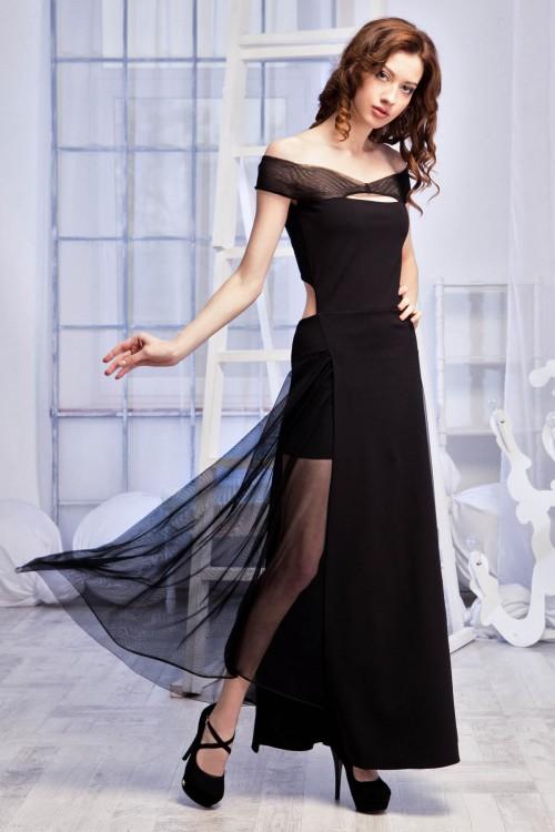 Платье 54-01 черный