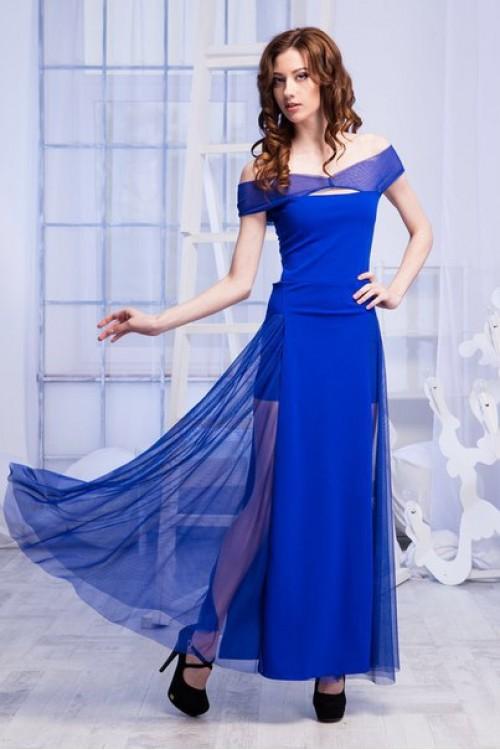 Платье 54-01 электрик