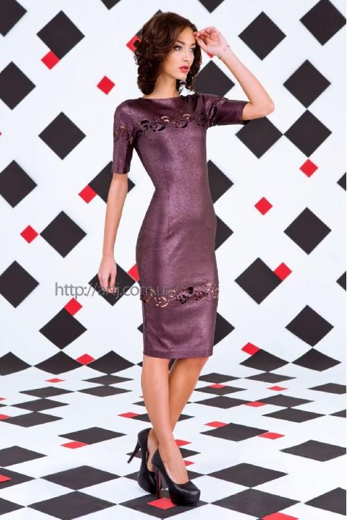 Платье 3258 баклажан