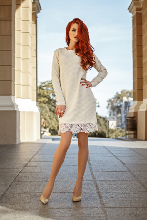 Платье 3350 молочный