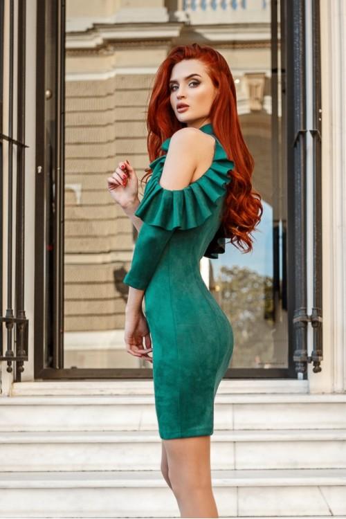 Платье 3406 бутылочный