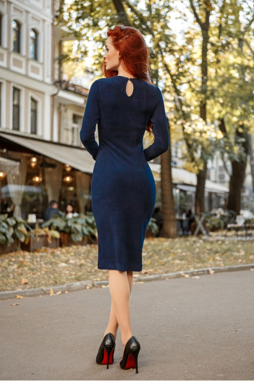 Платье 3403 синий