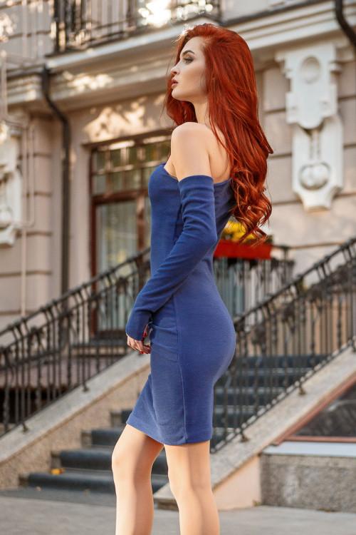 Платье 3435 синий