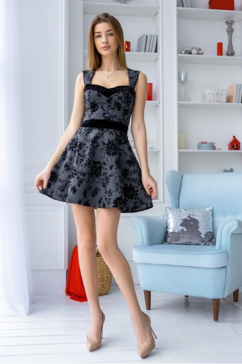 Платье 3441 серый