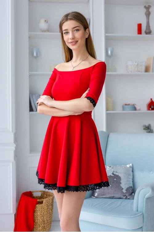 Платье 3346 красный