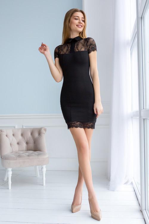 Платье 3347черний черный