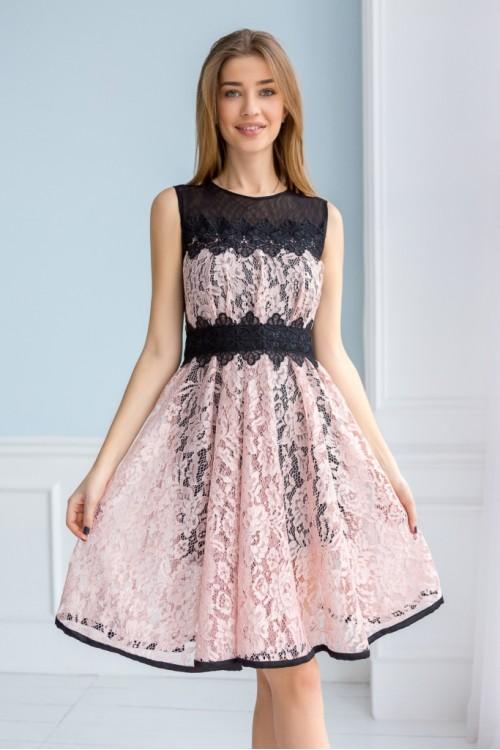 Платье 3366 пудра