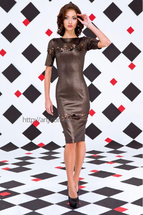 Платье 3258 бронза