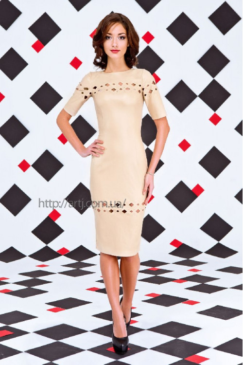 Платье 3257 беж
