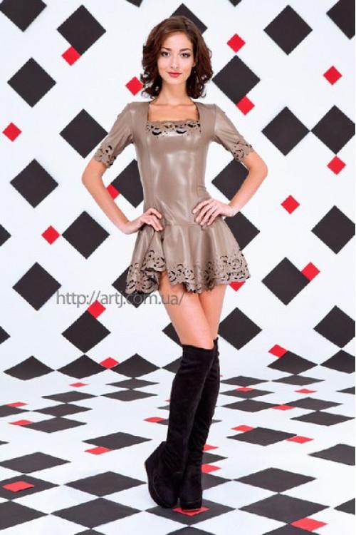 Платье 3256 кофейный