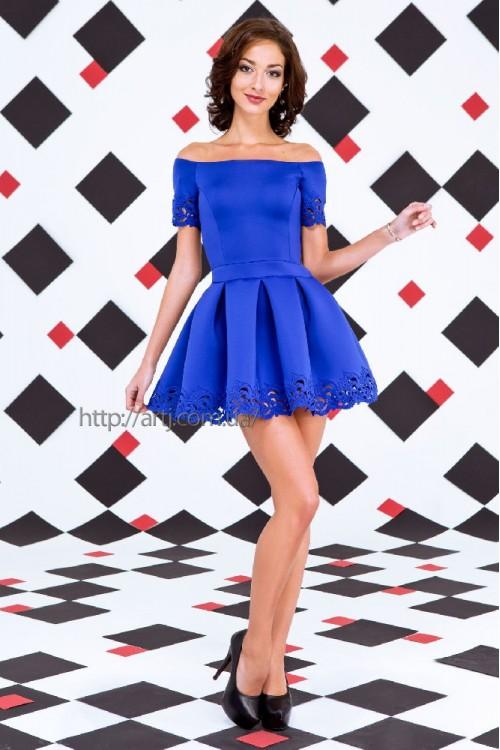 Платье 3259  электрик