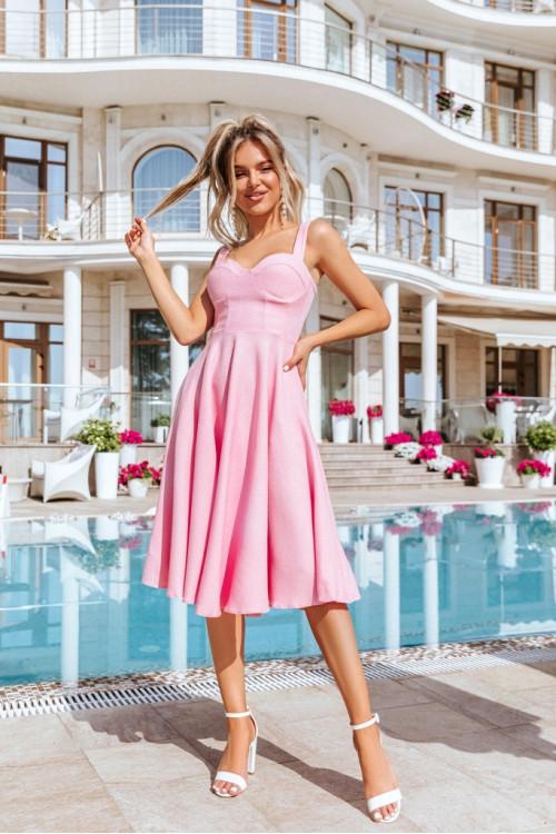 Платье3460 розовый