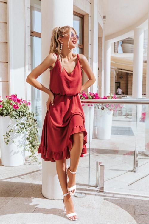 Платье 3519 марсал