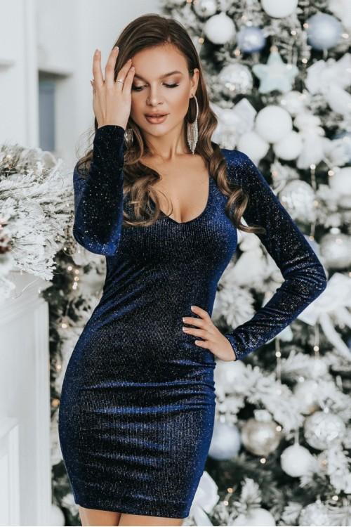 Платье 3447 синий