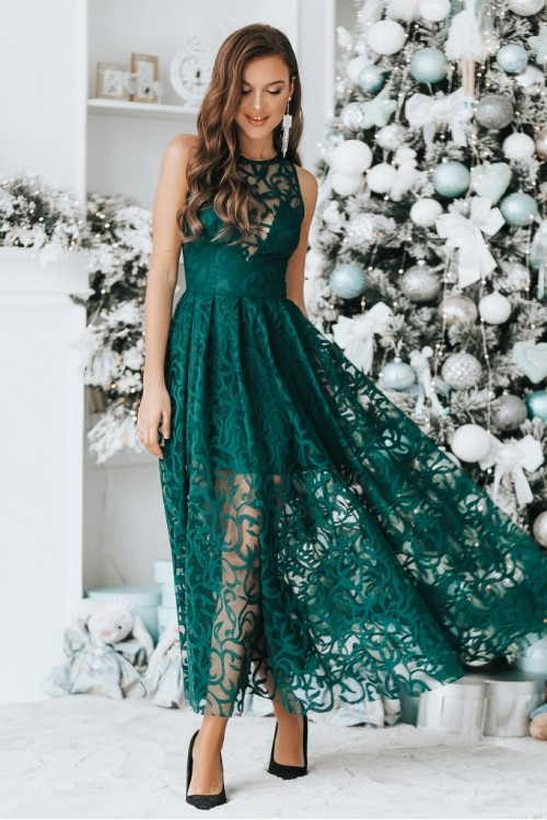 Платье 3412 бутылочный