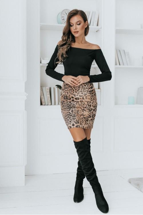 Платье 3483 леопард