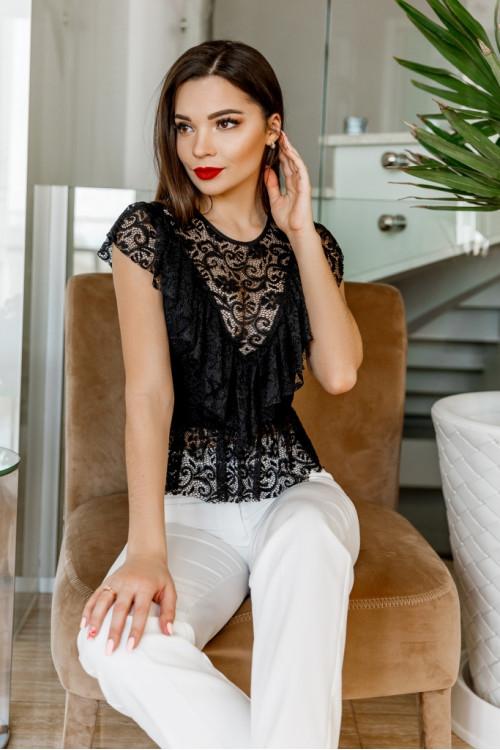 Блузка 2101 черный
