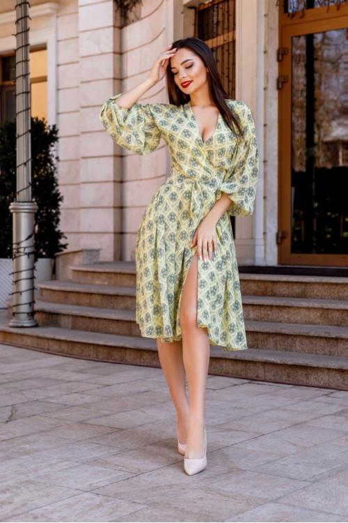 Платье 3456 желтый