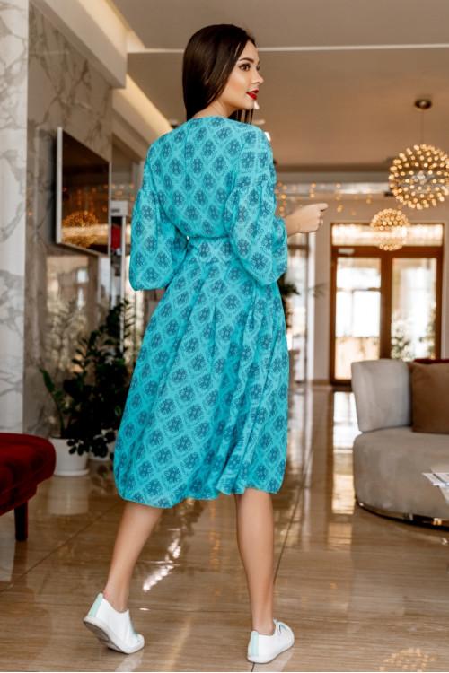 Платье 3456 бирюза