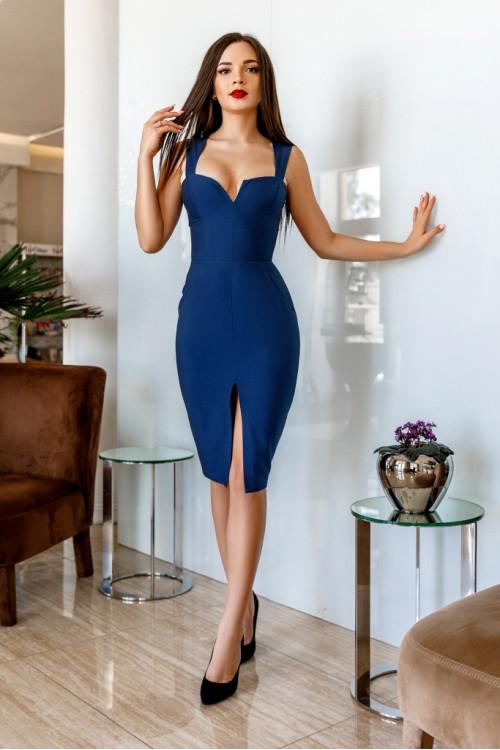 Платье 3430 синий
