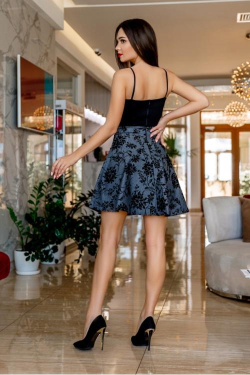 Платье 3453 серый