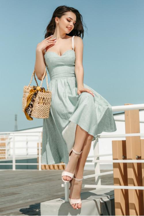 Платье 3427 оливка