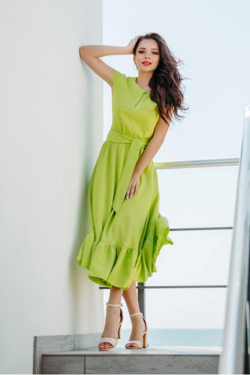 Платье 3282 лимонное