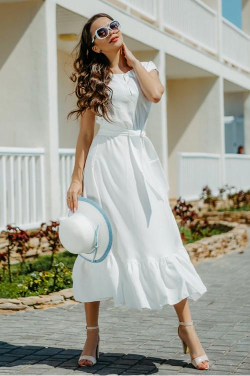 Платье  3282 молочное