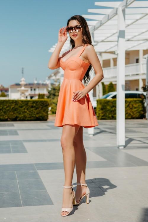 Платье 3458 персик